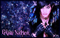 Adam Lambert Glam Nation ornate desktop wallpaper