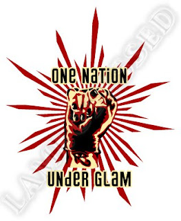 Adam Lambert Propaganda fist One Nation Under Glam T-shirt design