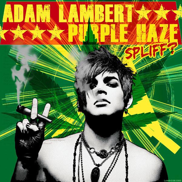Adam Lambert Purple Haze smoking spliff cover