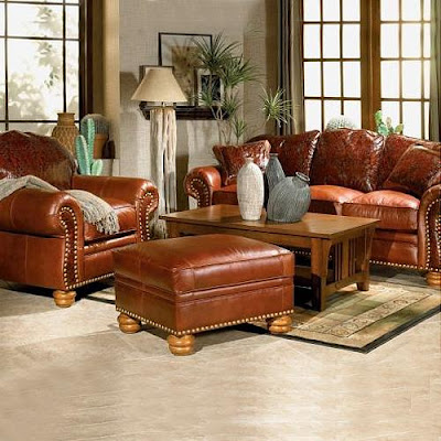 Home Furnishing Design: Leather Living Room Furniture Sets