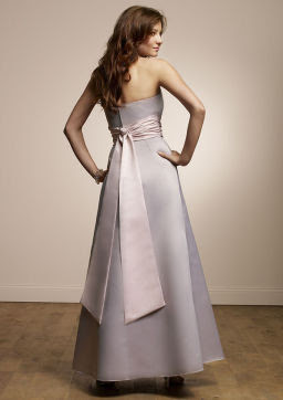 Mori Lee Solid Satin Gown Bridesmaid Dress