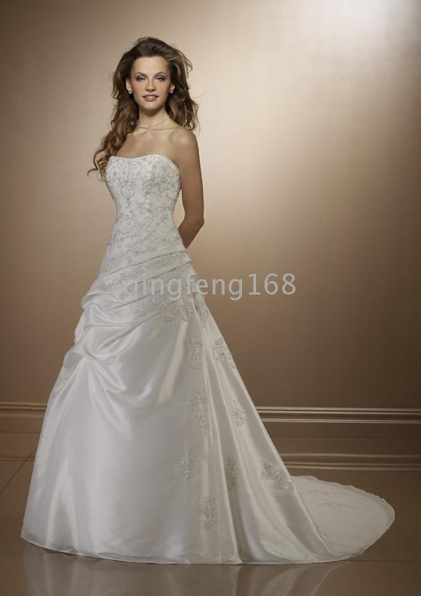 Romantic vintage wedding dresses 2010 beauty ball gown wedding dresses