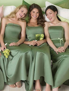 Green Bridesmaid Dresses for a Green Wedding Theme