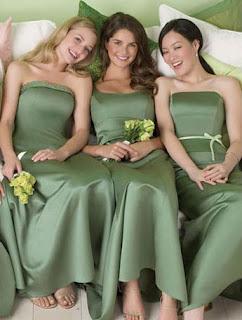 Green Bridesmaid Dresses for a Green Wedding Theme