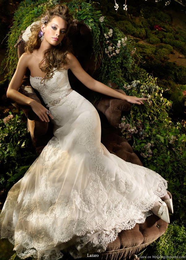 The trend wedding dresses lazaro spring 2010 bridal for Lazaro a line wedding dress