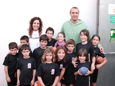 L'Escola d'Handbol amb David Barrufet