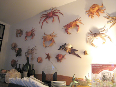 the SHH dining room wall of crabs