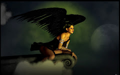 Black Angel Looking Out Into The World