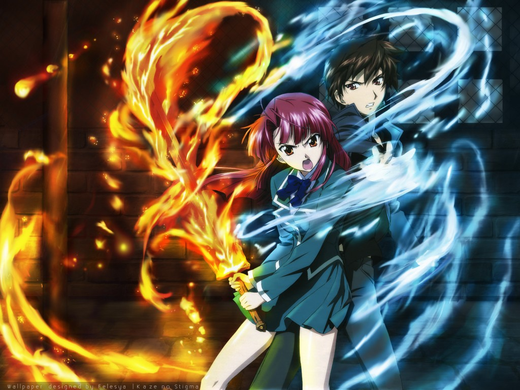 Anime Characters Powers : Anime fan magical powers fire and ice