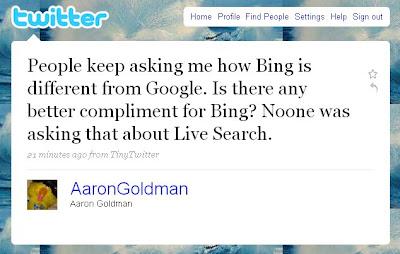 Bing Google Twitter