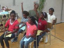 crianças africanas fizeram parte do cenario artistico no sabado 30 de Maio 2009