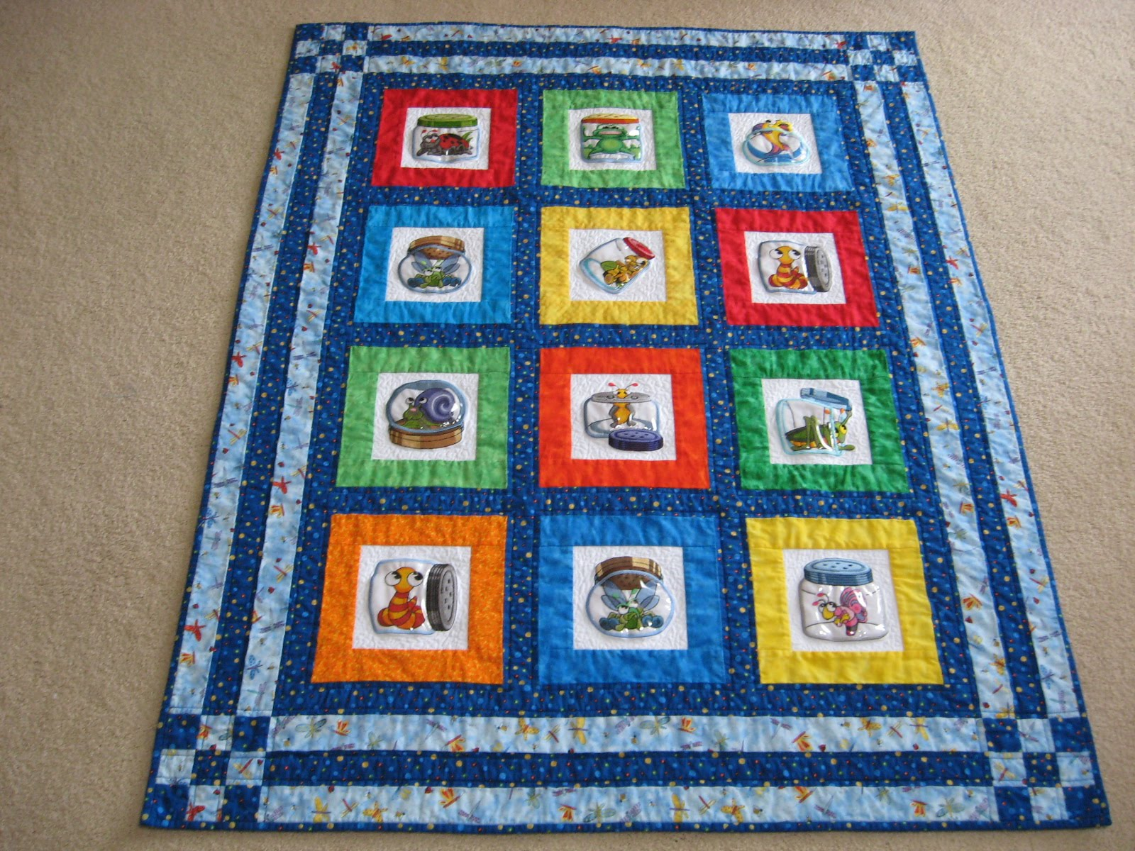 Simply Sewn by Yvonne: Hayden's Bug Jar Quilt Finished! : canning jar quilt pattern - Adamdwight.com