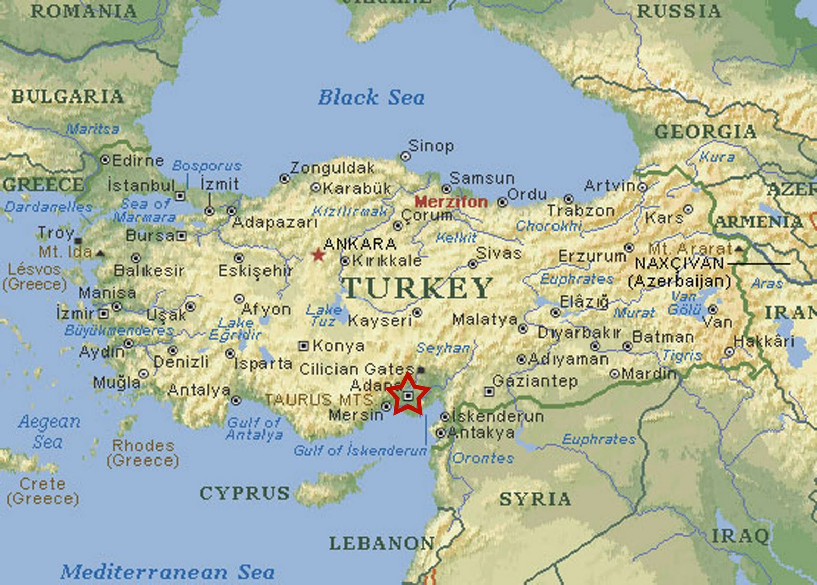 About Turkey Cities: Adana Maps