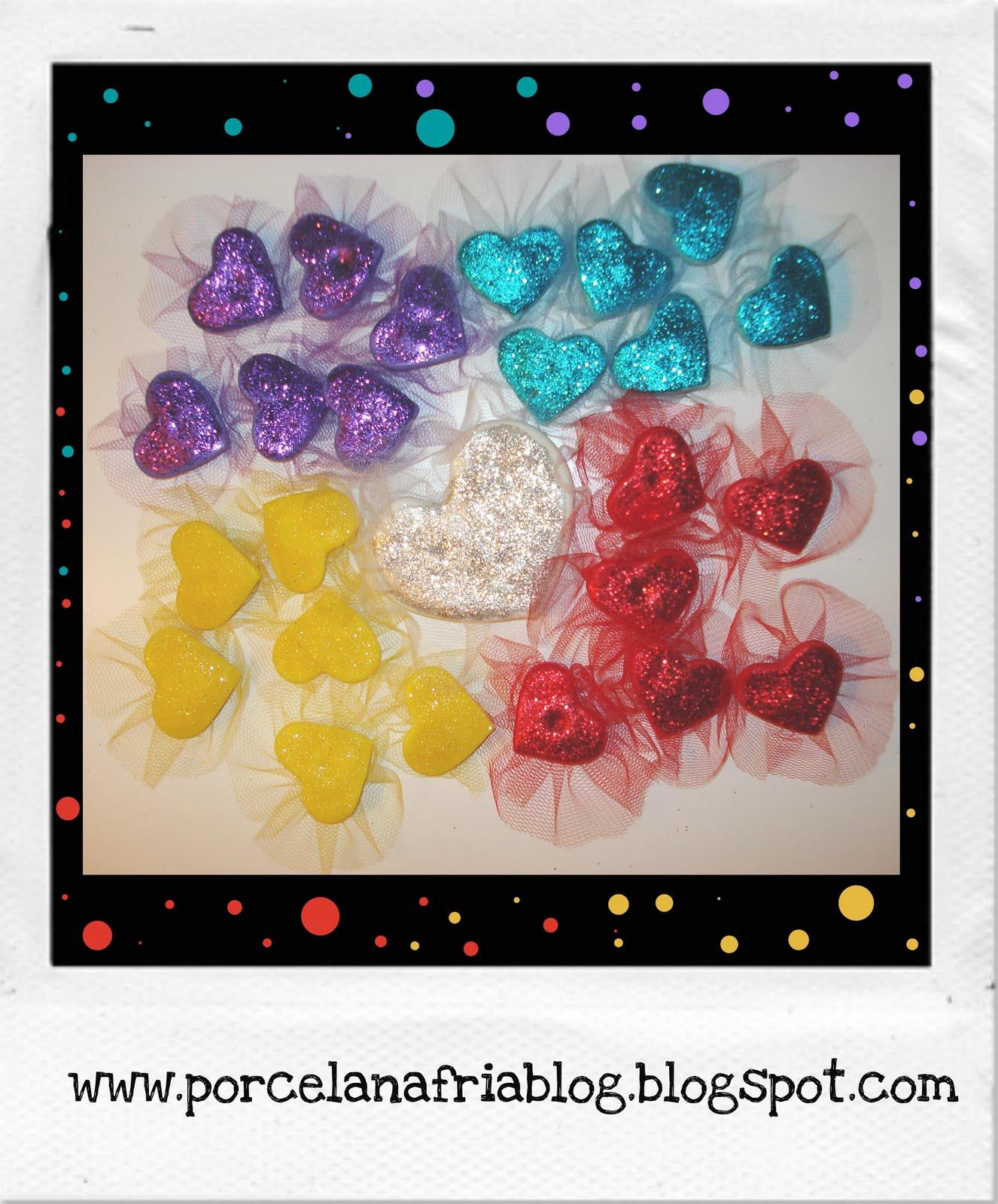 Boobledu souvenirs corazones con tul y sopapa para pegar for Espejos pequenos para pegar