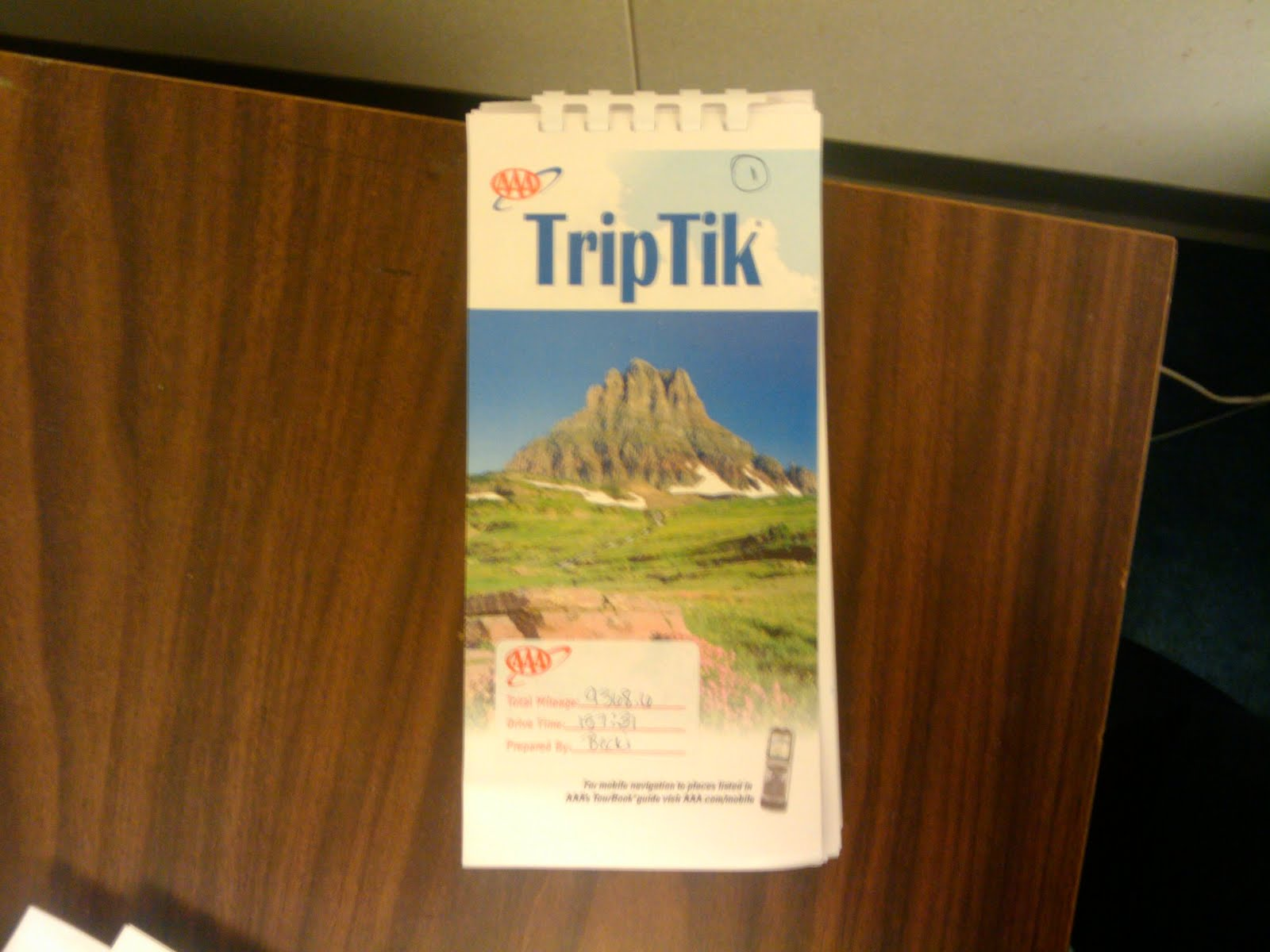 Chris Allens Spectacularly Mediocre Blog The AAA TripTik – Aaa Travel Maps