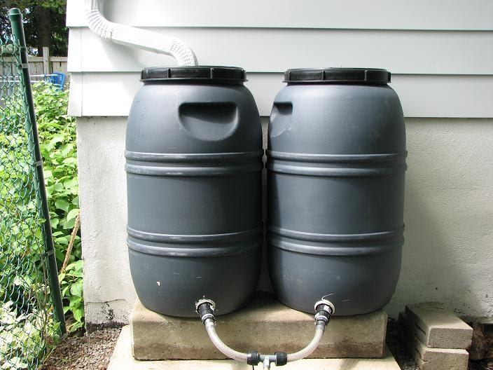 how to connect rain barrels