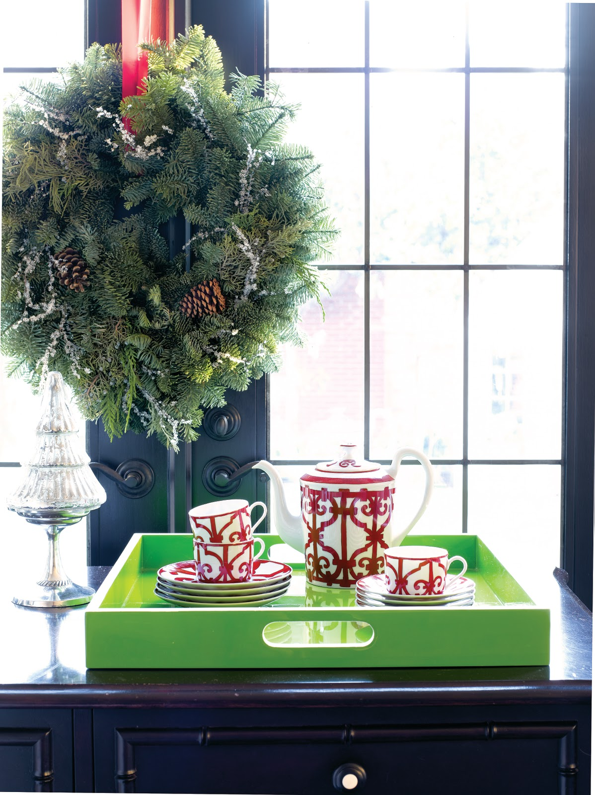 Room to inspire holiday home tour for Next home xmas decorations