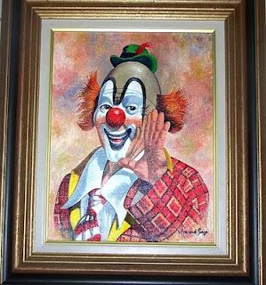 le clown, tableau peint en 1994