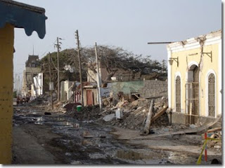 Views of the city of Pisco, Peru following the Aug. 15, 2007 magnitude 8.0 earthquake. In much of the city, the earthquake resulted in an almost a complete leveling of all unreinforced masonry structures and left much of the city without electricity and water for weeks.