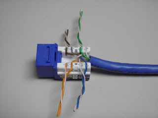 CAT5E+JACK+WIRES+LACED the trench how to terminate cat5e cat6 kwik jacks using the kwik tool rj45 keystone jack wiring diagram at crackthecode.co