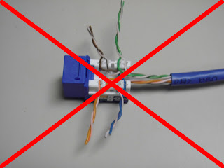 CAT5E+JACK+WIRES+LACED+WRONG+red+x the trench how to terminate cat5e cat6 kwik jacks using the kwik tool Cat5 Wiring-Diagram a Series at virtualis.co