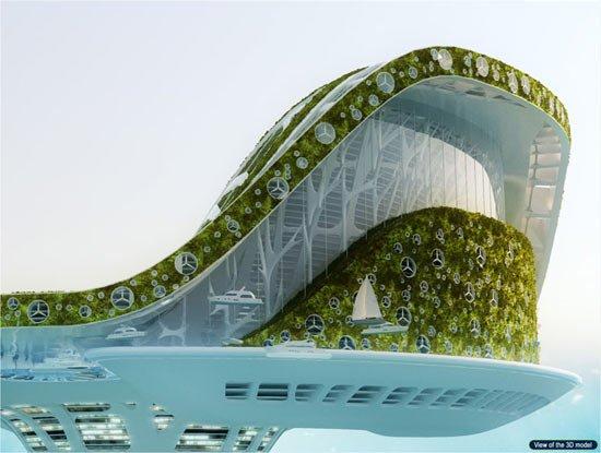 مدينة عائمة جديدة في دبي ، صور رائعة