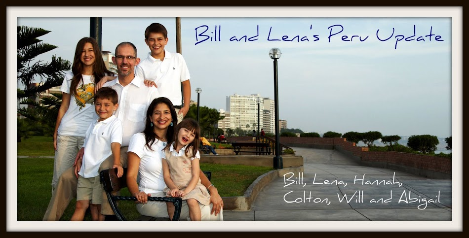 Bill & Lena's Peru Update