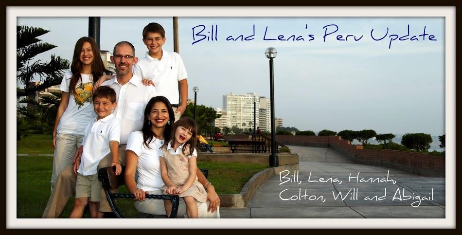 Bill & Lena's Peru Update
