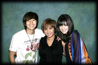 Odette with Justin Chon and Christian Cerratos at the 2009 Phoenix Twi-Tour Twilight Convention