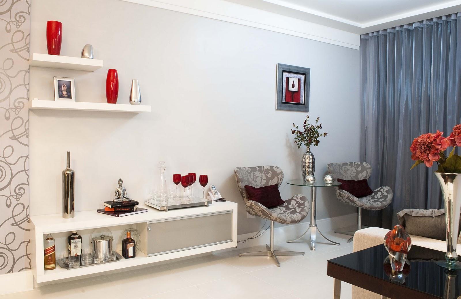 Sala De Estar Vermelho ~ Ana Stella criando 0111