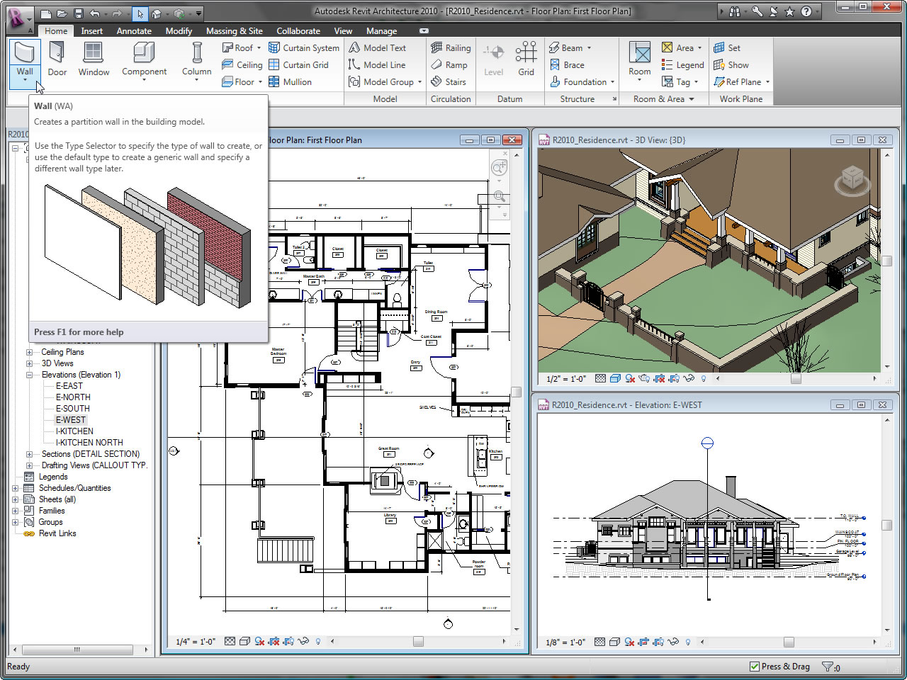 Bossa vossa revit 2010 for Home architecture cad