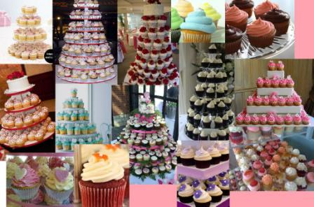 Cupcake Cake Towers for 2011