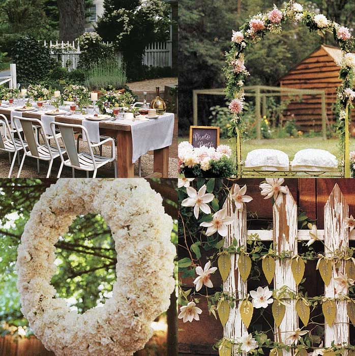 Garden Theme Ceremony Decor