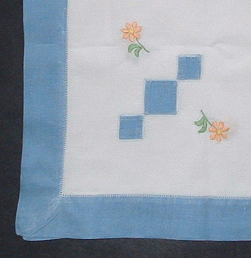antiques and teacups  antique tea cloth tablecloth english embroidered linen