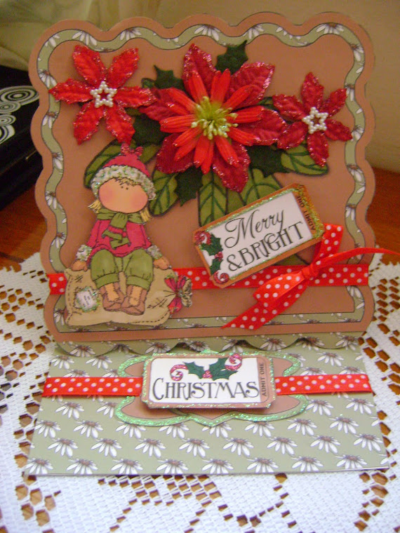 hanglar & stanglar,merry & bright ,easel card