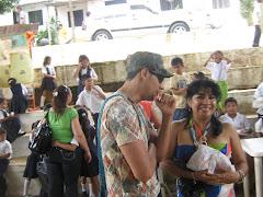 docentes  participando del festival
