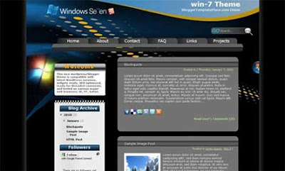 Win Windows 7 Blogger Template