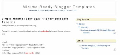 new 2010 minima ready for seo friendly blogspot template as the best blogger layout