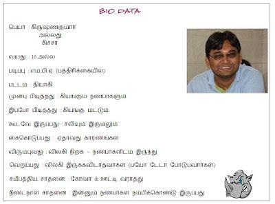 Bio Data - Kitcha