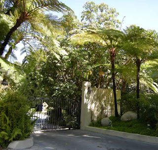 Entrance to Alfred Hitchcock's Bel Air Home