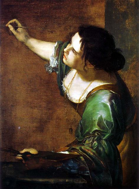 Self Portrait as the Allegory of Painting, 1630. By Artemisia Gentileschi