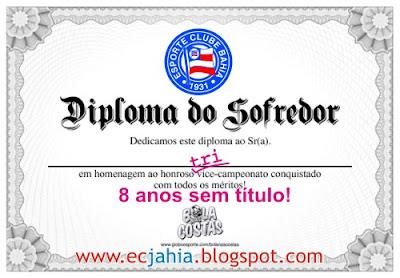 Diploma de sofredor do JAHIA