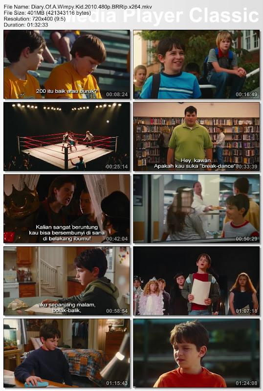 Download Film DVD Diary Wimpy Kid 2010 Subtitle Indonesia - Catatan jurnal Greg selama di sekolah menengah untuk menjadi favorit kelas