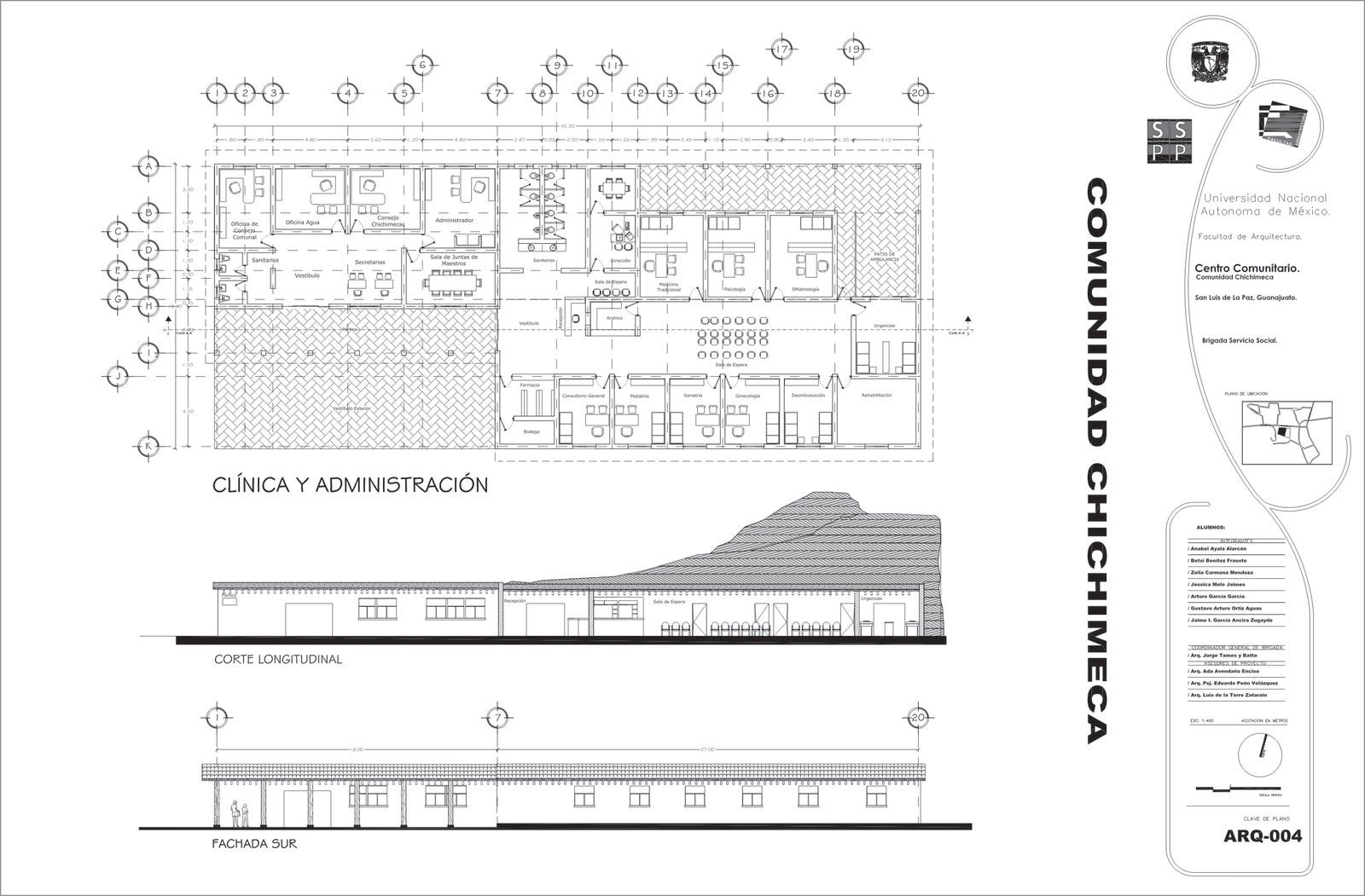 Facultad de arquitecura unam for Planos de arquitectura pdf