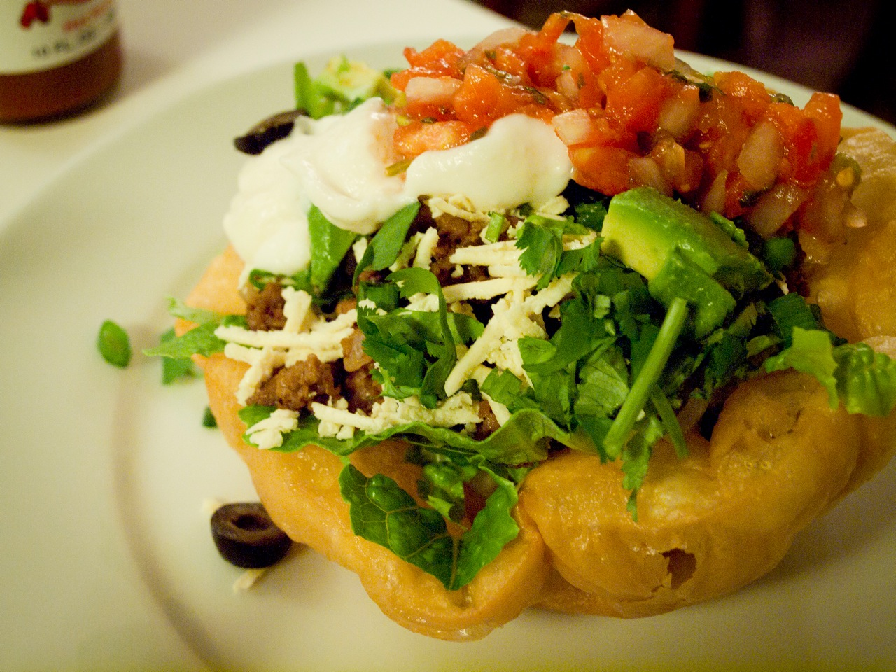 It's true, vegans love salad. Including taco salad.