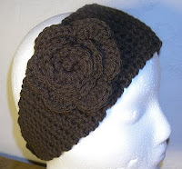 Amazon.com: Crochet pattern, blue headband with flower sizes baby