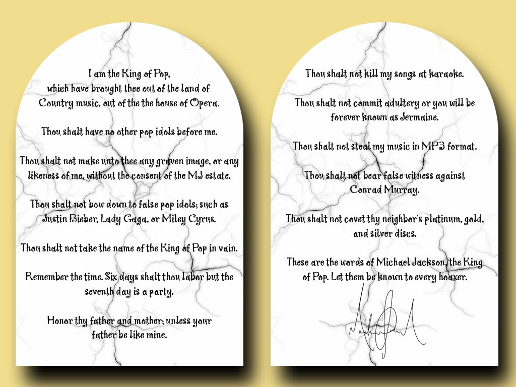 The Ten Commandments Of Hoaxers   MJHDC