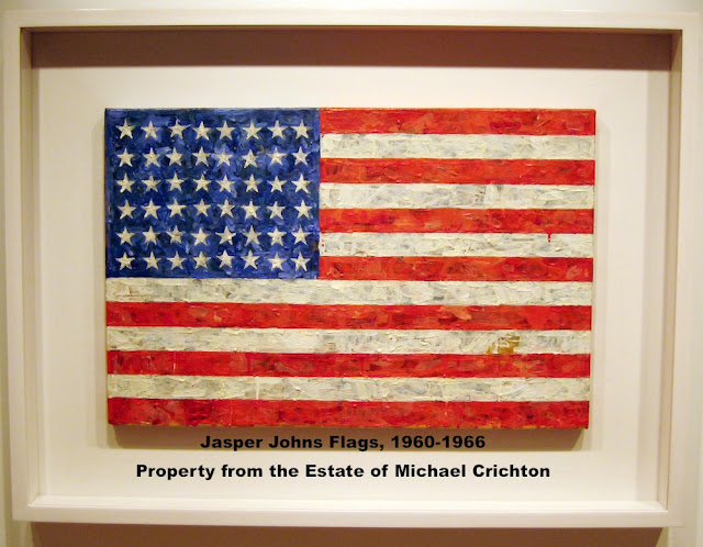 Jasper Johns Flag Painting Sold by Estate of Michael Crichton