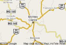 Montes Claros-mapa