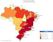 O CENSO DEMOFRÁFICO é uma pesquisa sobre a população que possibilita . (mapa brasil populaã§ã£o )